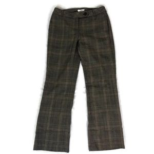 Ann Taylor LOFT Brown Plaid Bootcut ANN Fit Pants